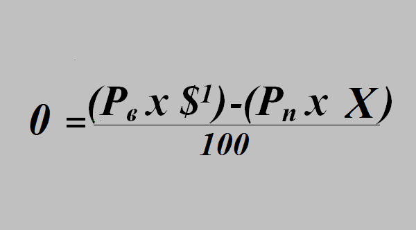 Измененная формула EV