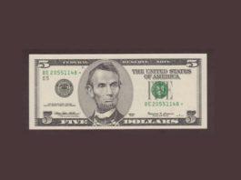 Купюра в пять долларов