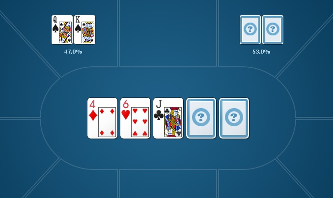 Покерный калькулятор с расчетами для стартовой руки