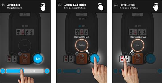 Управление игрой через сенсорный экран