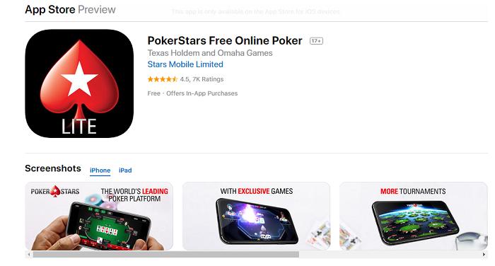 ПокерСтарс в AppStore