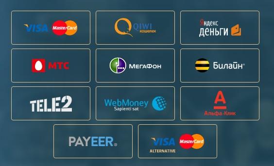 Методы внесения платежей