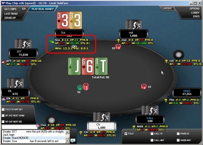 HUD встраиваемый в покерный софт